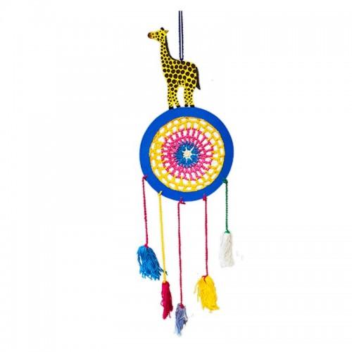 Ловец снов Жираф 5 кисточек 65 см разноцветный