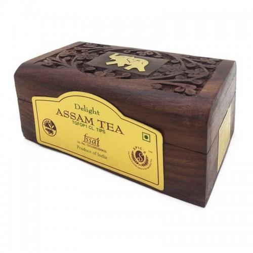 Чай Ассам в деревянной коробке Bharat Bazaar 50г