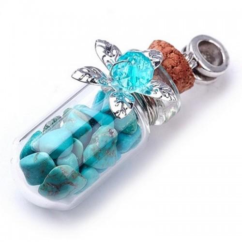 Аромафлакон с натуральным камнем Бирюза 4,6см
