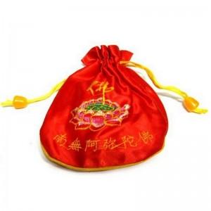 Мешок для четок красный 14см ткань