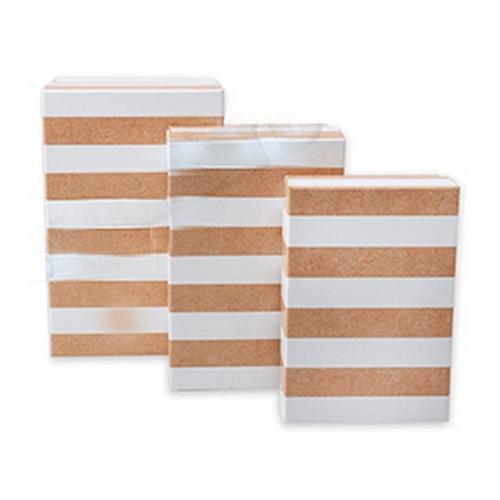 Подарочная коробка Полосы 19х12х7,5 см картон