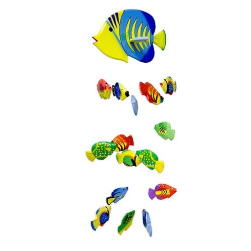 Воздушный аквариум Рыбки Конго 70 см 16 разноцветных рыбок дерево албезия