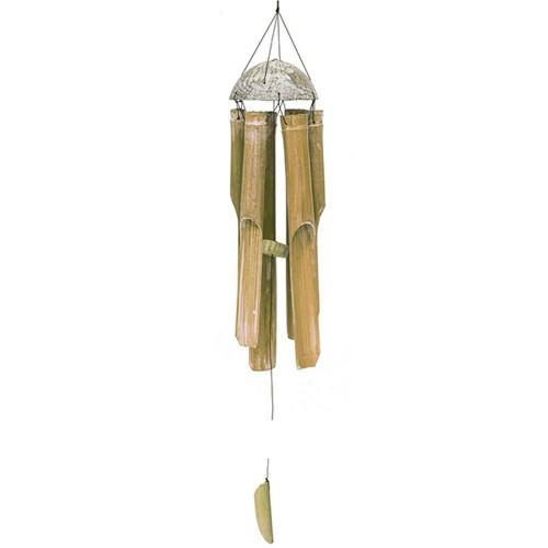 Музыка ветра 6 трубок 105 см с белым натуральный бамбук кокос