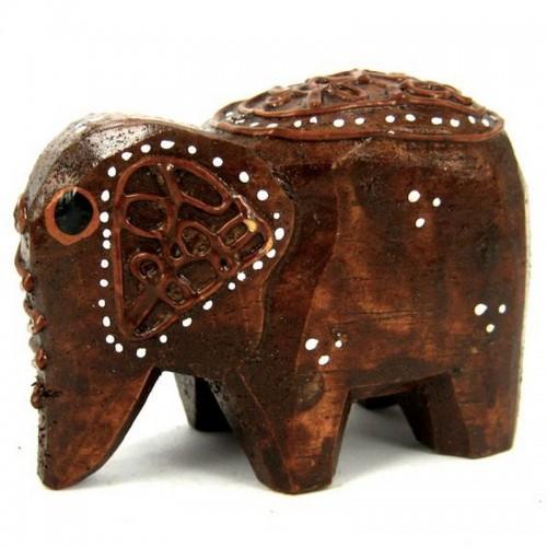 Слон статуэтка 7х5см, дерево