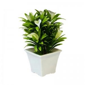 Букет декоративный Каллы 18 см белый