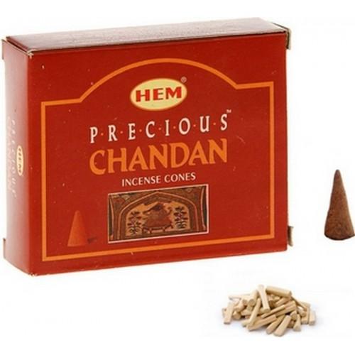"""Благовония конус HEM """"Precious Chandan. Драгоценный Чандан"""", 10 конусов в упаковке"""