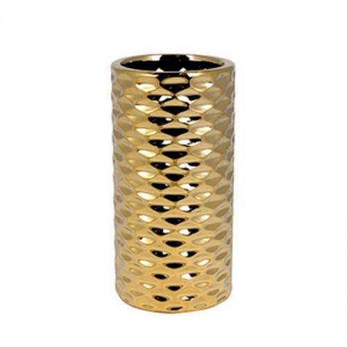Ваза Иллюзия 19 см золото керамика