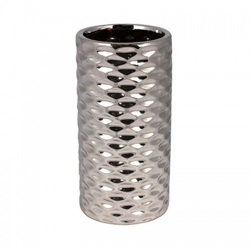 Ваза Иллюзия 19 см серебро керамика