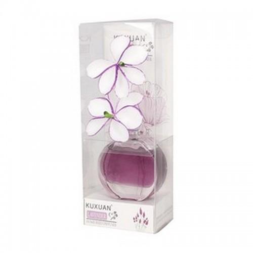 Ароматизатор Жасмин в вазе с аромамаслом Лаванда 30 мл фиолетовая ваза