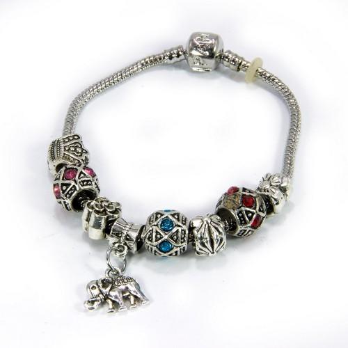 Браслет Пандора со Слоником MIX фианиты символ изобилия и процветания