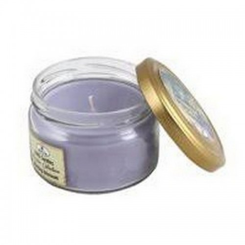 Свеча ароматическая в банке Цветочная 8 см лавандовая