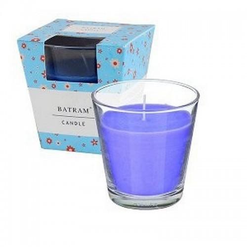 Свеча ароматическая в стакане Океан 7 см синяя парафин стекло фитиль