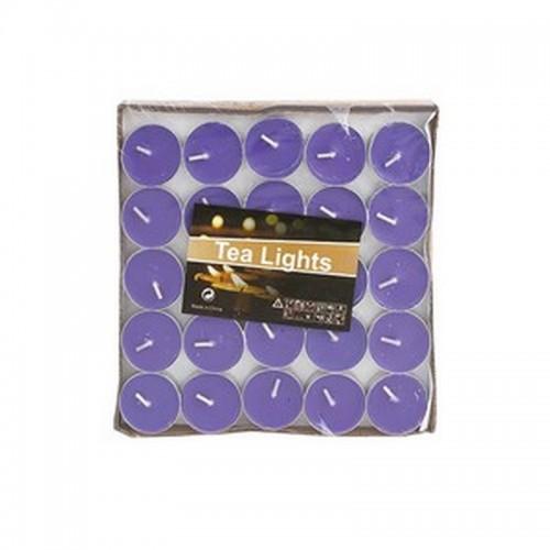 Свечи чайные 50 шт Фиолетовые время горения 1,5 часа