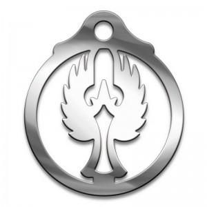 Амулет серия символы Суперхит №01 Ангел медицинская сталь