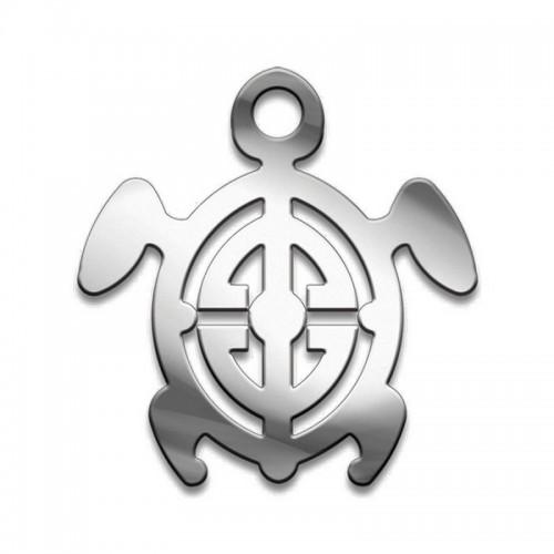 Амулет серия символы Суперхит №08 Мудрая Черепашка медицинская сталь