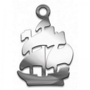 Амулет серия символы Суперхит №11 Корабль Достатка медицинская сталь