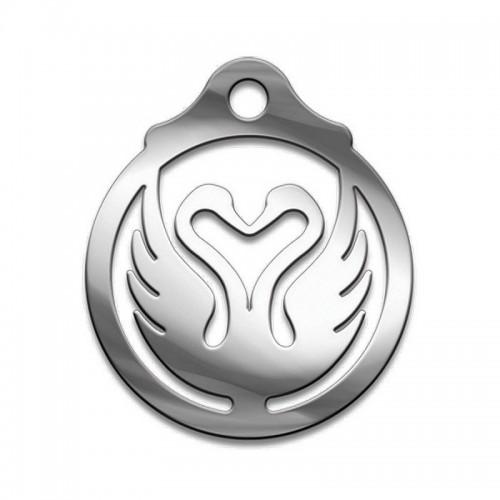 Амулет серия символы Суперхит №12 Лебеди Любви медицинская сталь