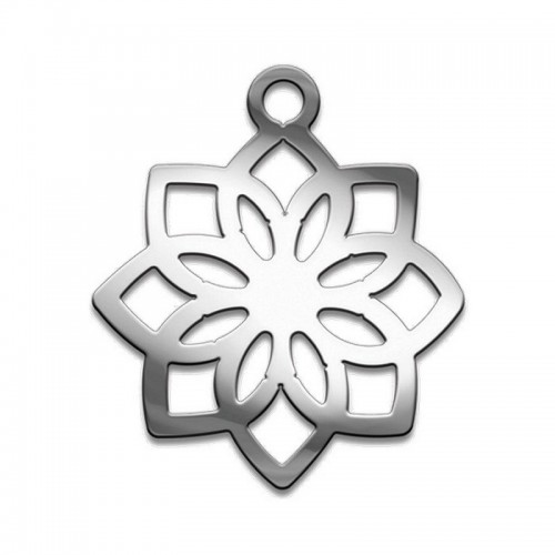 Амулет серия символы Суперхит №13 Лотос Совершенства медицинская сталь