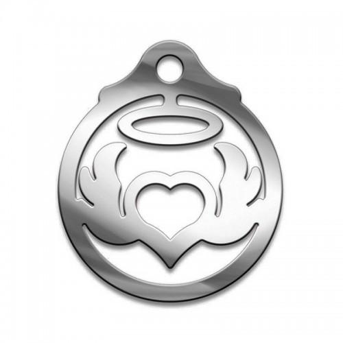 Амулет серия символы Суперхит №23 Поцелуй Ангеламедицинская сталь