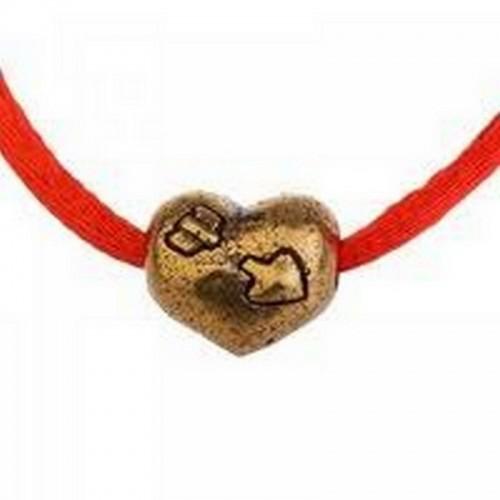 Браслет талисман Красная нить с шармом Сердце 36 см