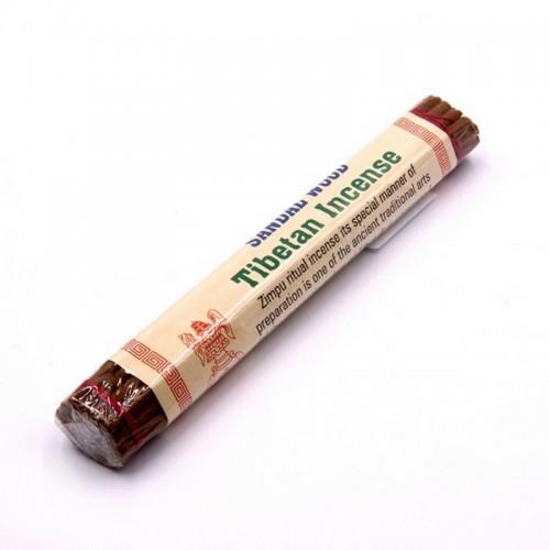 Sandal Wood Tibetan 15см 26гр - Белый и Красный Сандал и 25 видов трав
