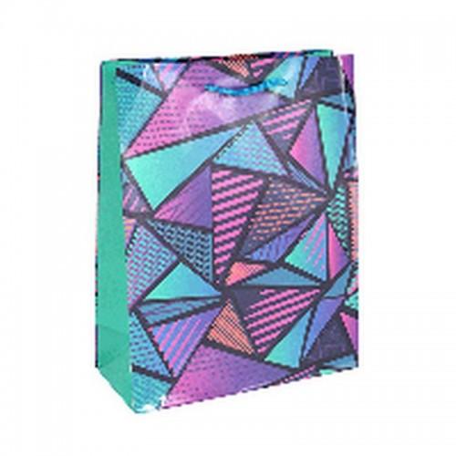 Пакет подарочный 18х23 см Неоновый узор бумага