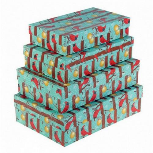 """Подарочная коробка """"Новогодние птицы"""" Мал."""