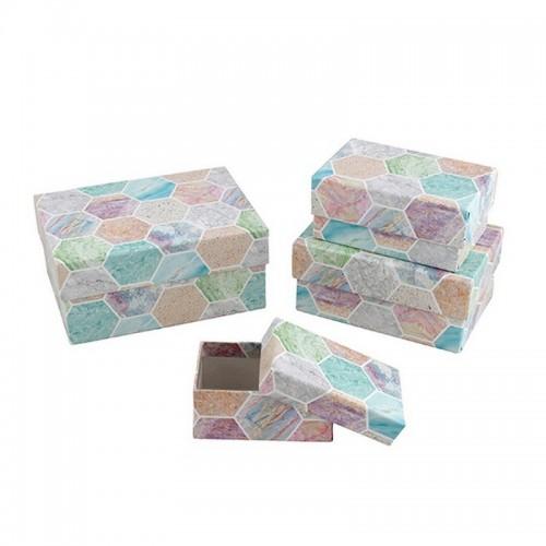 "Подарочная коробока ""Мраморная мозайка"" Бол."