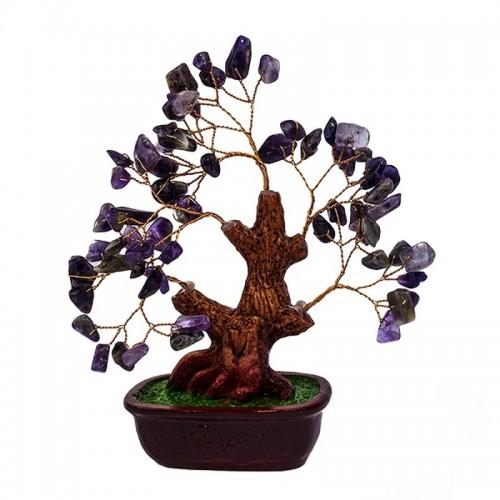 Дерево Аметист фиолетовый 16х18 см натуральный камень