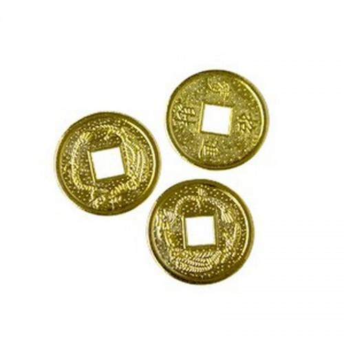 Монеты китайские россыпь диаметр 2,5 см под золото металл
