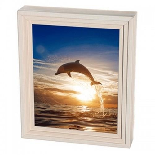 Ключница Пирамида 7 крючков 25х30 см Дельфин выбеленный дуб