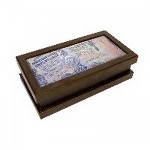 Шкатулка малая  Царские банкноты 19х5х10 см венге МДФ ПВХ