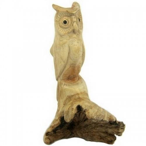 Сова фигурка 16х9см, корень дерева