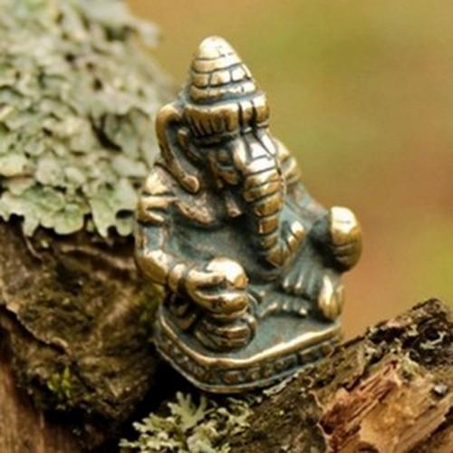 Ганеша статуэтка бронза 18*13*25мм