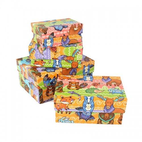 Подарочная коробка Твой зоопарк картон Мал.