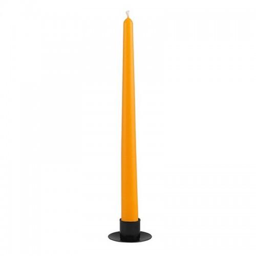 Свеча Коническая 30 см оранжевая