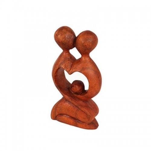 Фигурка Абстракция 20 см Влюбленная пара Поцелуй Сердце резьба коричневый суар