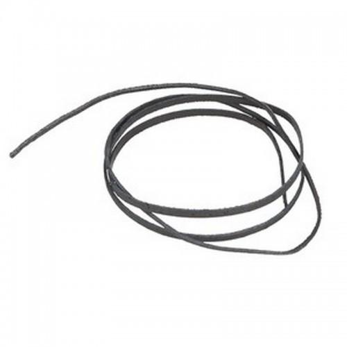 Шнурок для амулетов и кулонов 90 см черный кожа