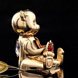 Сувенир «Мишка с сердцем», 5×4×5 см, с кристаллами Сваровски