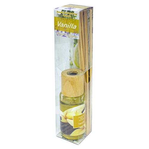 Аромадиффузор с аромамаслом Ваниль 30 мл бамбуковые палочки