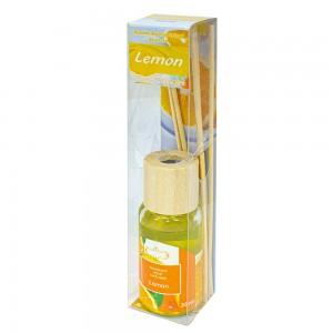 Аромадиффузор с аромамаслом Лимон 30 мл бамбуковые палочки