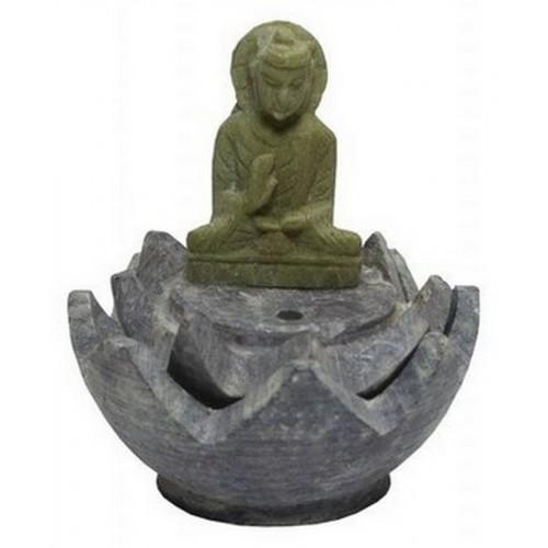 Подставка для благовоний Лотос 4,5см Будда камень