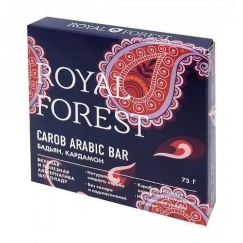 Шоколад из кэроба с бадьяном и кардамоном Royal Forest 75г