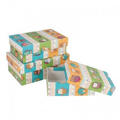 Подарочная коробка Совята 19x12x7.5 см картон