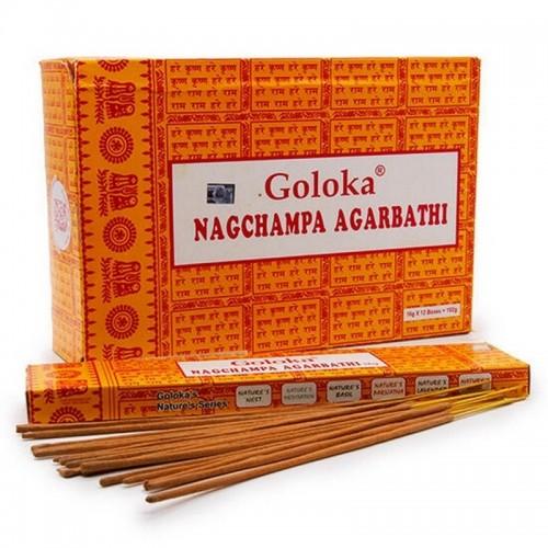 Благовония Goloka 15 гр Наг Чампа для подношения Богам NagChampa Agarbathi