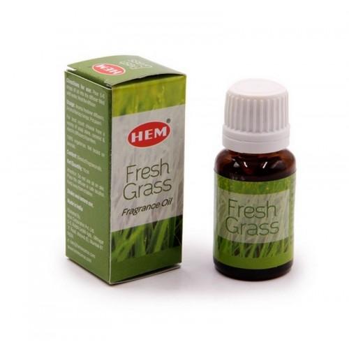 Парфюмерное масло HEM Fresh Grass Fragrance Oil Свежесть трав Освежающее 10мл Индия