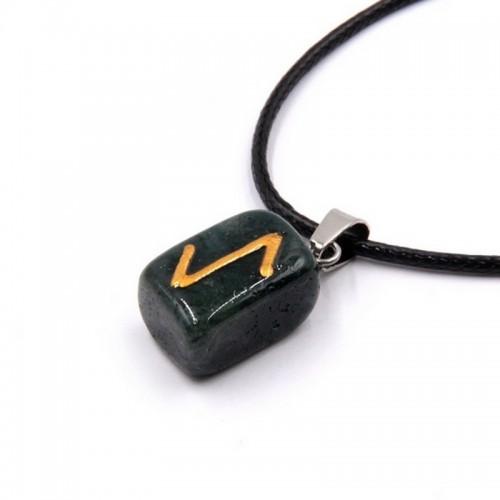 Оберег камень Содалит руна - Эйваз- достижение цели Защита от любого воздействия