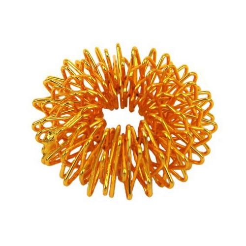 Массажер Су Джок-терапии на палец, цвет золото d.2,5см, металл