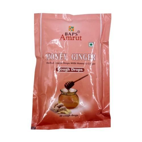 Леденцы от кашля Мед Имбирь Honey Ginger Cough Drops 20 шт Индия