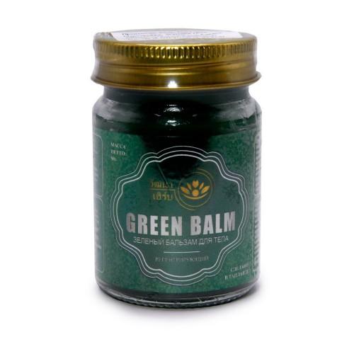 Бальзам Wattana Herb Зеленый для тела регенерирующий 50гр Таиланд